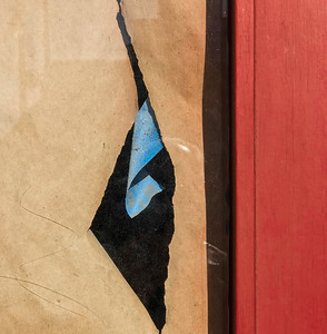 Window, Torn Paper & Tape, San Francisco, 2019