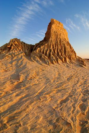Sunset over Mungo - Walls of China formation, Mungo National Park. BBC Wildlife semi-finalist.