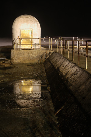 Pumphouse Reflection - Merewether Baths are a popular destination in Newcastle.