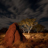 Termite Storm Rising - Night photography in Karijini National Park, Western Australia.