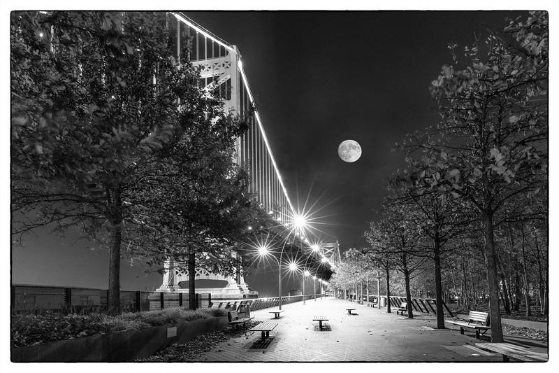 Fulll Moon over Race Street Pier