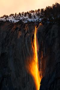 Yosemite Fire Falls
