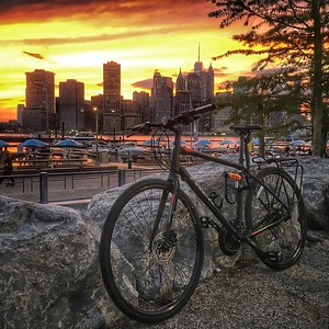 Brooklyn Bridge Park Sunset view of Manhattan