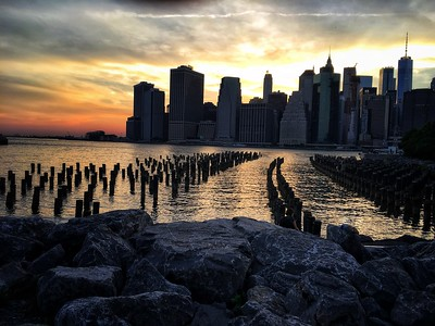 Sunset Manhattan Skyline