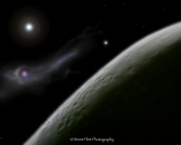 "DF.456 - ""Cucumbia"" - with nebula. close-up of cucumber with Photoshopped nebula"