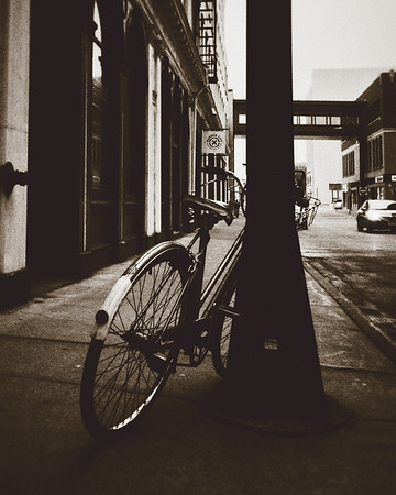 Bicycle on Michigan Street