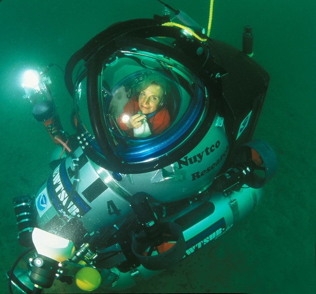 Dr. Sylvia Earle in a Submersible