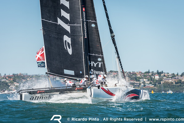 Racing Day 2  - Extreme Sailing Series in Sydney, Australia
