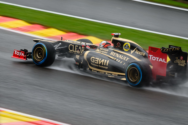 Practice One - Kimi Räikkönen - Car 9 - E20 - Full Wet Tyres - Lotus F1 Team