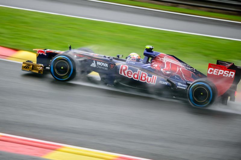 Practice One - Jean-Eric Vergne - Car 17 - STR7 - Full Wet Tyres - Scuderia Toro Rosso