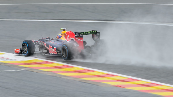 Practice One - Mark Webber - Car 2 - RB8 - Full Wet Tyres - Red Bull Racing