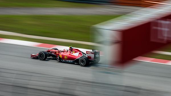 Practice Two - Kimi Räikkönen - Car 7 - F14 T - Medium Tyres - Scuderia Ferrari