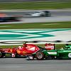 Race - Kimi Räikkönen (Car 7 - F14 T - Scuderia Ferrari) & Kamui Kobayashi (Car 10 - Ct05 - Caterham F1 Team)