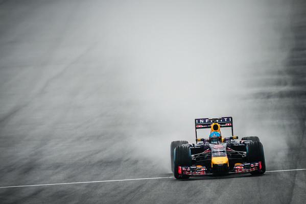 Qualifying - Sebastian Vettel - Car 1 - RB10 - Full Wet Tyres - Infiniti Red Bull Racing