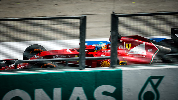 Practice One - Fernando Alonso - Car 14 - F14 T - Medium Tyres - Scuderia Ferrari