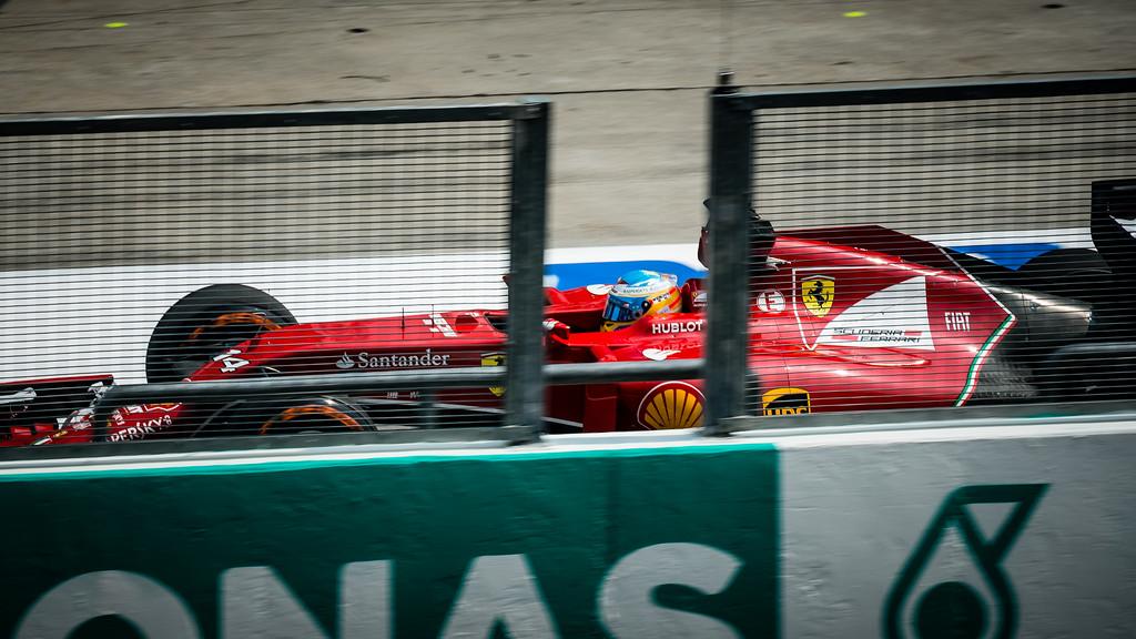 Practice One - Fernando Alonso - Car 14 - F14 T - Medium Tyres - Scuderia Ferrari