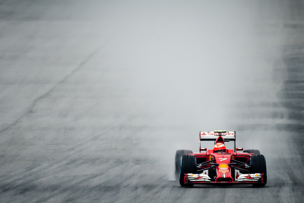 Qualifying - Kimi Räikkönen - Car 7 - F14 T - Full Wet Tyres - Scuderia Ferrari