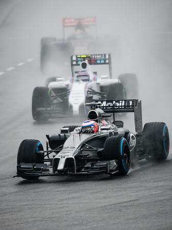 Qualifying - Jenson Button (Car 22 - MP4-29 - McLaren) & Valtteri Bottas (Car 77 - FW36 - Williams Martini Racing) & Jean-Eric Vergne (Car 25 - STR9  Scuderia Toro Rosso)