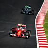 Kimi Räikkönen (Car 7 - SF16-H - Scuderia Ferrari) & Nico Rosberg (Car 27 - F1 W07 Hybrid - Mercedes)