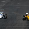 Kevin Magnussen (Car 20, Renault) & Felipe Massa (Car 19, Williams)