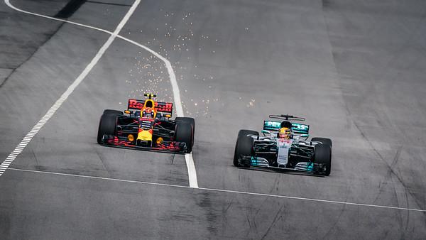 Verstappen overtaking Hamilton