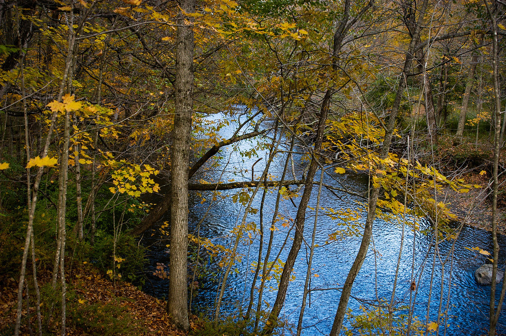 Pomperaug River in Autumn