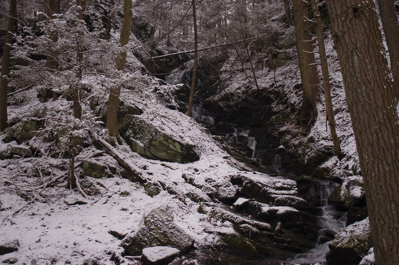 Cascade Falls in winter