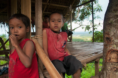 local kids were watching the Biodiversity Caravan from the comfort of their treehouse.