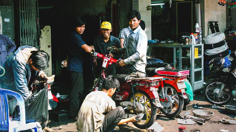 Local Cambodian Bike Garage