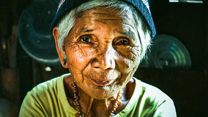 Old Vietnamese Farmer Lady
