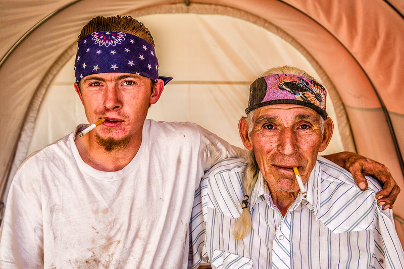 """Sunny & Grandson"" Gunnison, Colorado"
