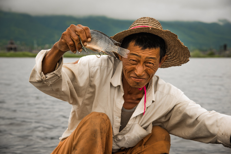 Fisherman. Inle Lake, Myanmar 2015