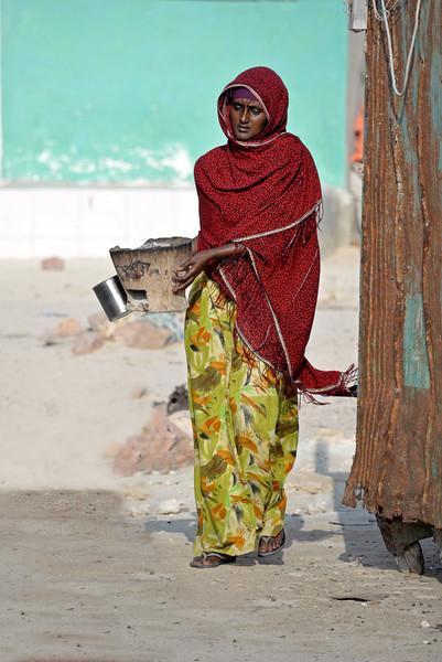 Somali woman in Gaarad, Puntland, Somalia