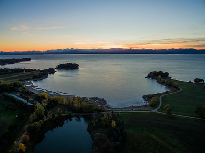 Lake Champlain & Adirondack's Sunset