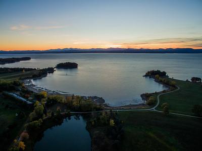 Lake Champlain & Adirondack's Sunset