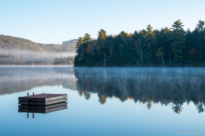 Mist over Cooper Lake, near Dwight