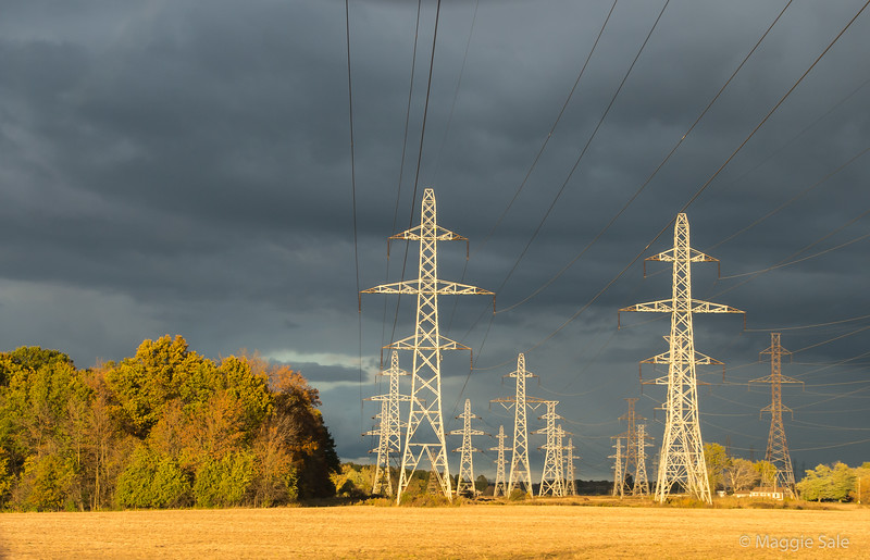 Power lines in Niagara region