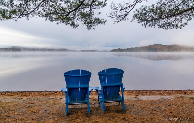 Morning mist at Dwight Beach