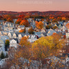 Autumn in Boston Suburbs with Quaint New England Town and Fall Foliage (2:1 Left)