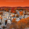 Boston Suburbs with Indian Summer in Late Fall from Boston's North Shore
