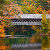 Henniker Covered Bridge and Fall Colors in Scenic New Hampshire