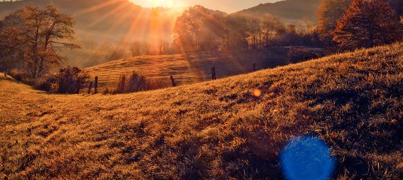 Blue Ridge Fall Sunrise