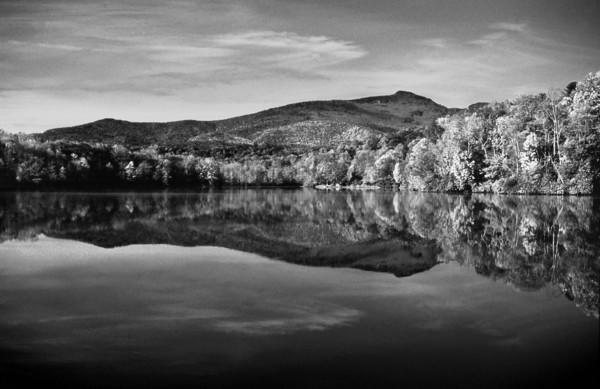 Price Lake, Grandfather Mountain In B&W