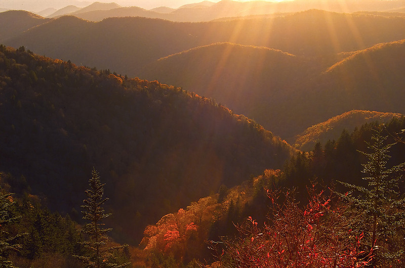 Fall Sunset NC Mountains