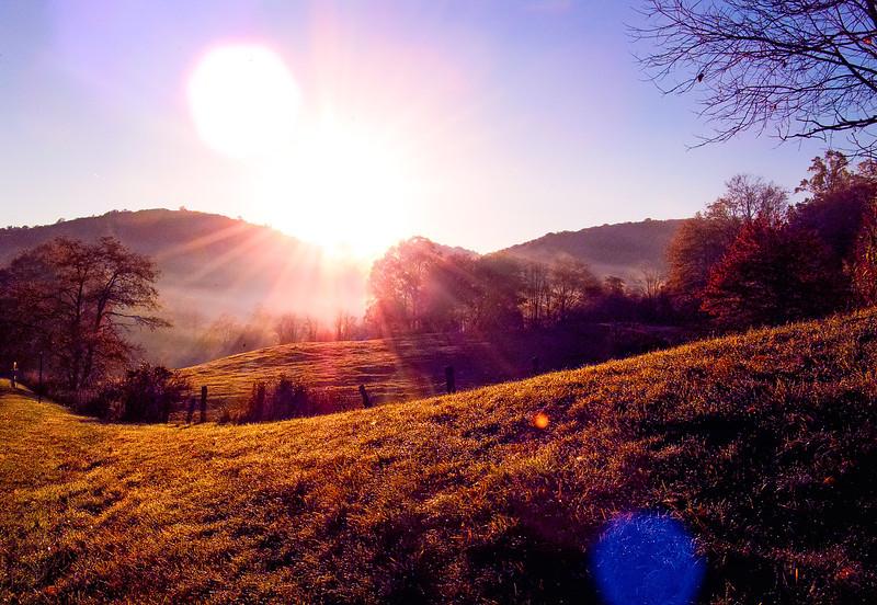 Misty Blue Ridge Morning