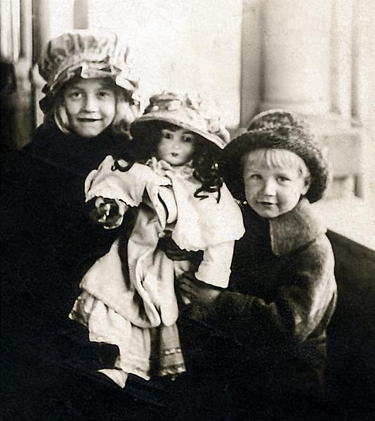 Muriel & John Jr. - 7 & 5 years old - Feb. 1919