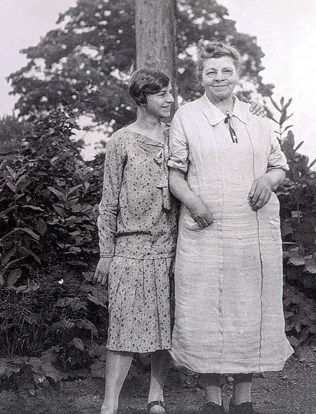 Aunt Florence with her mother Marin