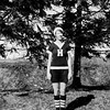 Muriel in Haverstraw High sports uniform - March 1929