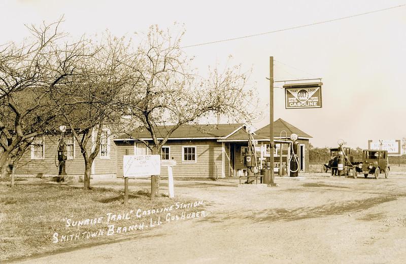 'Sunrise Trail' - Gus Huber's Long Island gasoline station - John Sr's brother