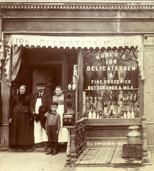 Huber Delicatessen & Groceries - 108 St. Nicholas Ave, NYC